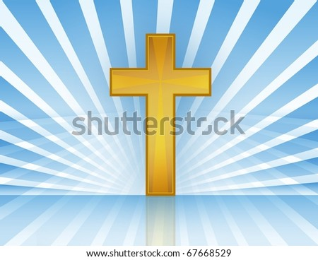 Holy Cross with rays of light. Vector file available. / Cross In Heaven