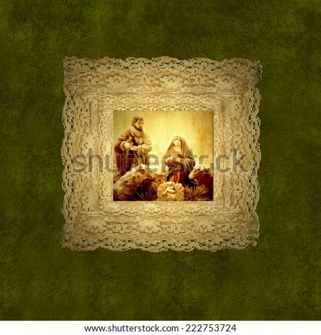 holy family nativity scene on...