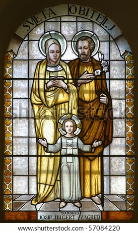 Holy Family, stained glass