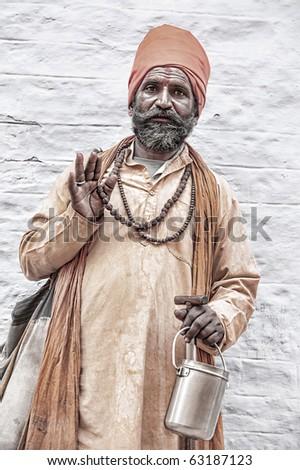 holy indian sadhu.