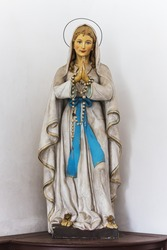 Holy Mary statue in old Czech church