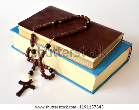 holy rosary and Holy Bible #1191157345