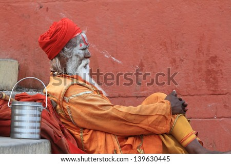 Holy Sadhu in India