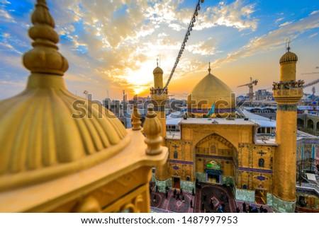 Holy Shrine of imam ali in najaf - iraq