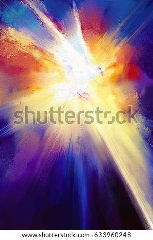 holy spirit digital painting/ holy spirit