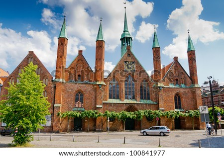 Holy Spirit (Heiligen Geist) Hospital in Lubeck. Schleswig Holstein, Germany