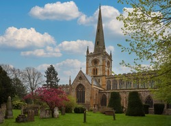 Holy Trinity Church (Shakespeare's burial place) in Stratford Upon Avon, UK