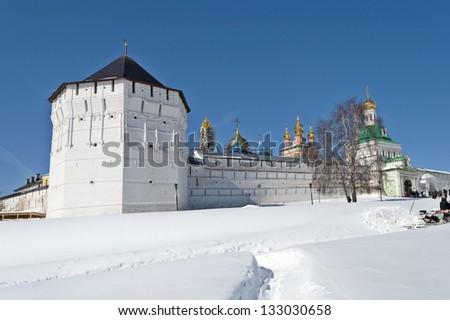 Holy Trinity-Sergius Lavra in winter. View from the tower Pyatnitskaya. UNESCO World Heritage Site