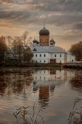 Holy Vvedensky island hermitage - Orthodox female monastery on island on Vvedensky lake, Pokrov, Russia