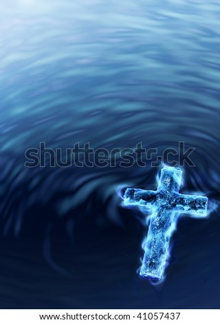 Holy Water Cross - Religious Metaphor V3 Stock Photo 41057437 ...