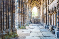 Holyrood Abbey is a ruined abbey of the Canons Regular in Edinburgh, Scotland.