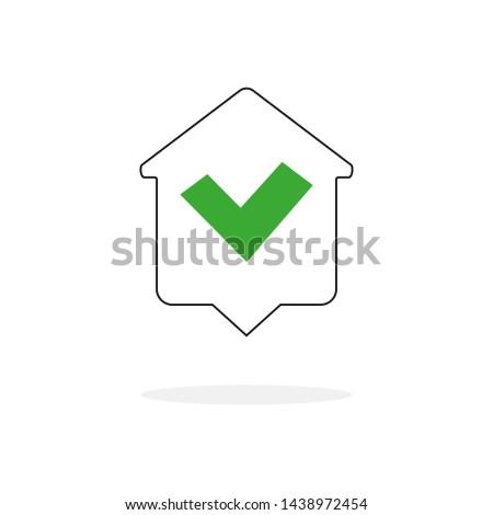 home accept web icon for web page. Web design.