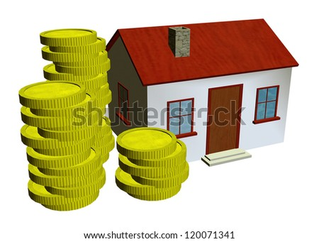 HOME AND COINS - 3D