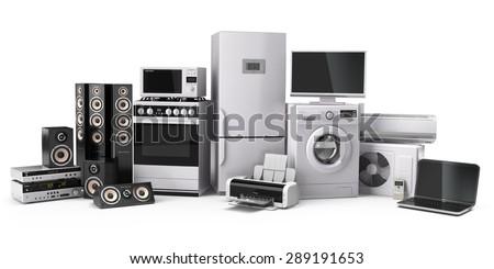 home appliances. gas cooker  tv ...