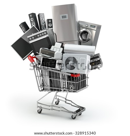home appliances in the shopping ...