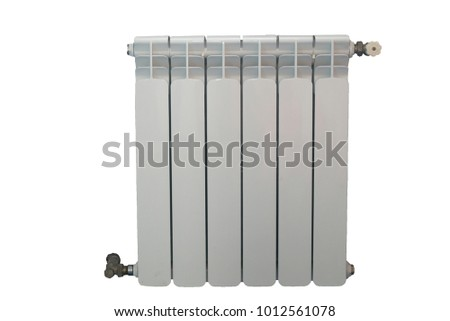 Home battery from seven sections isolated on white background #1012561078
