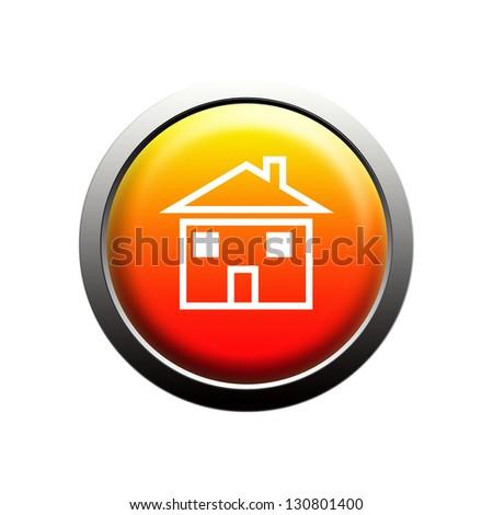 Home button on white background - stock photo