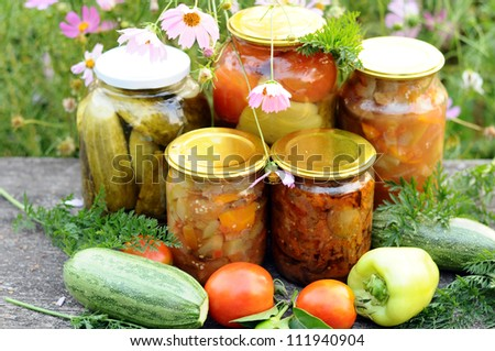 Home canning, canned vegetables