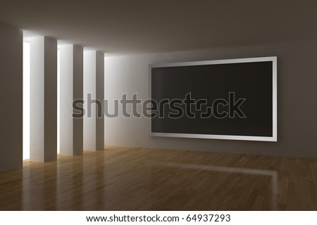 home cinema with big plasma screen