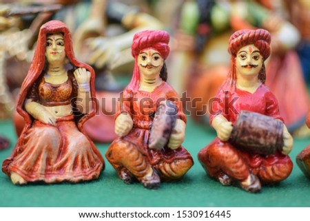 Home decor handmade clay street performers in market #1530916445