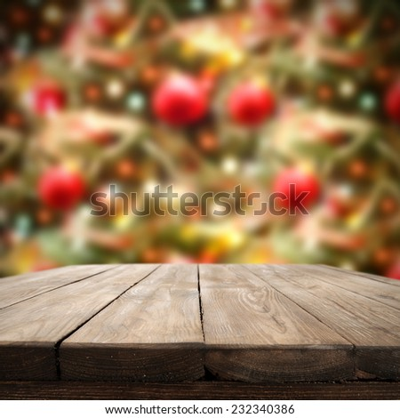 home decoration of holiday time and dark table