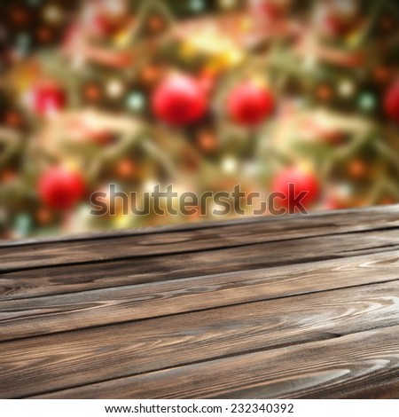 home decoration of holiday time and retro wooden board space