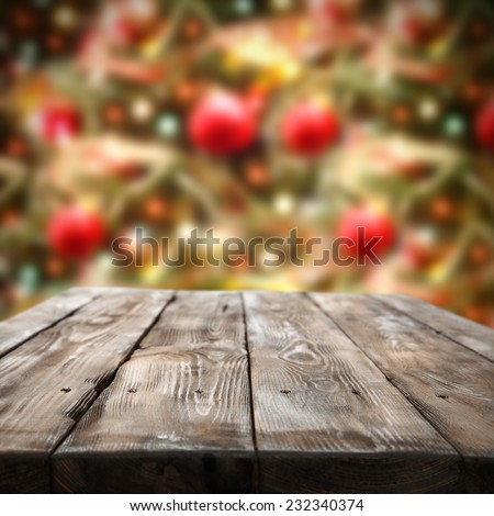 home decoration of holiday time and worn old table and vintage chic