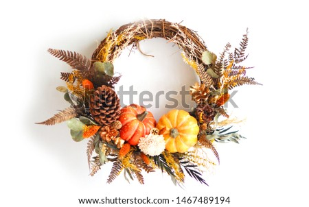 Home Decorative Floral Ornament Wreath for Halloween #1467489194