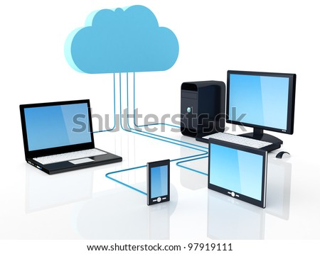 Home Electronic Devices connected to cloud server.