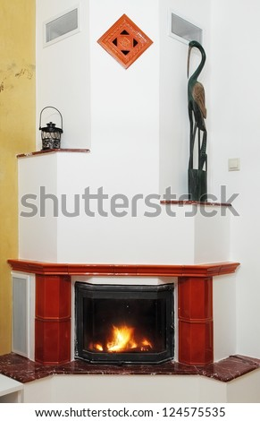 Home Fireplace in house interior