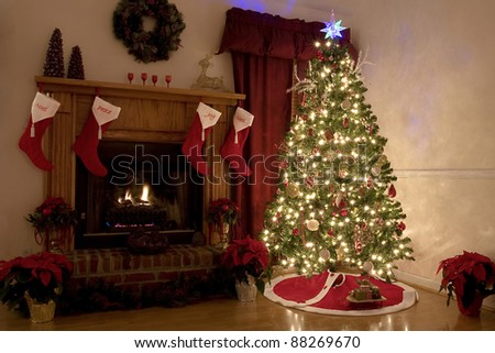 Home for Christmas, moms got the house decorated, tree lit up, waiting for Santa