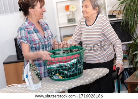 Home help concept for an elderly woman Photo stock ©