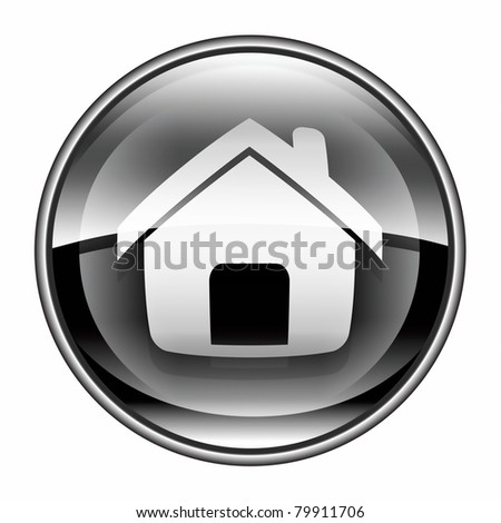 home icon black, isolated on white background
