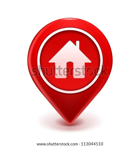 Home Icon Pin Deal. illustration isolated on white