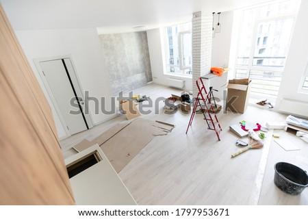 Home Improvement Kitchen Remodel view installed in a new kitchen Foto d'archivio ©