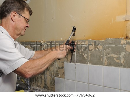 Home improvement - removing old tiles