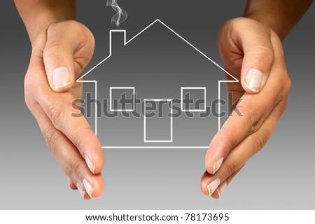 Home insurance - stock photo