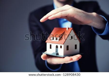 Shutterstock Home insurance concept.