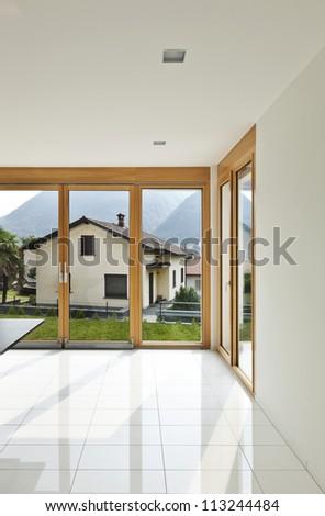 home interior, corner of the window #113244484