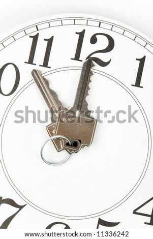 home key and clock, Real Estate Marketing Concept