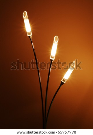 Home lighting lamp against a plain background