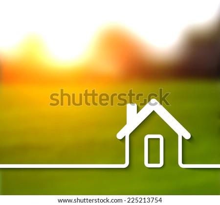 Home line concept illustration