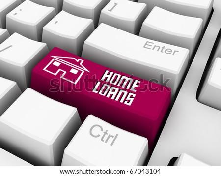 home loan text written on keyboard