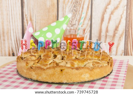 Free Photos Happy Birthday Candles In The Pie Avopix Com