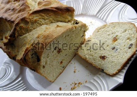 home made bread sliced