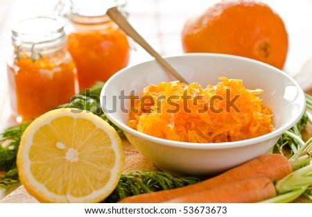 Home made carrot citrus jam