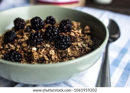 Home-made granola, simple recipe - simple solution #1061959202