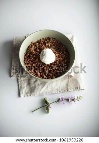 Home-made granola, simple recipe - simple solution #1061959220