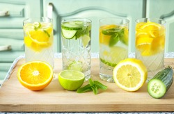 Home made healthy vitamin-fortified water.