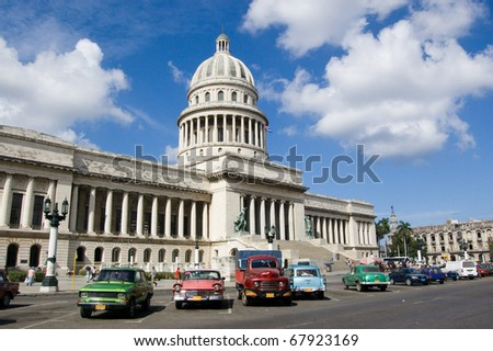 Home of Cuba's legislature - the Capitolio in Havana.